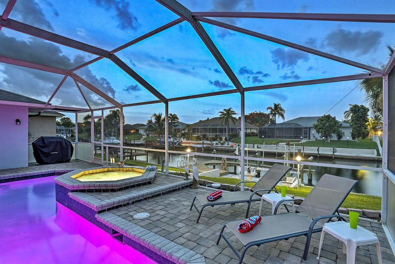 Your Cape Coral adventure starts at this canalfront vacation rental house!