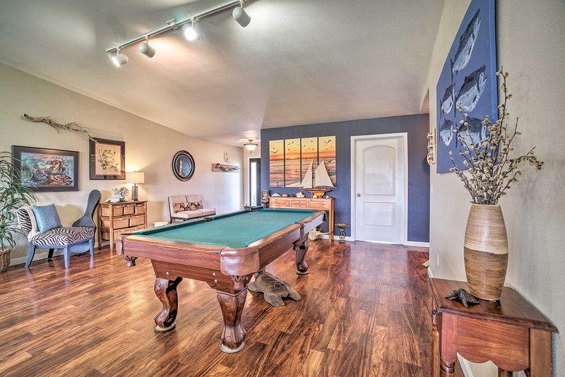 Questa casa per le vacanze vanta un tavolo da biliardo!