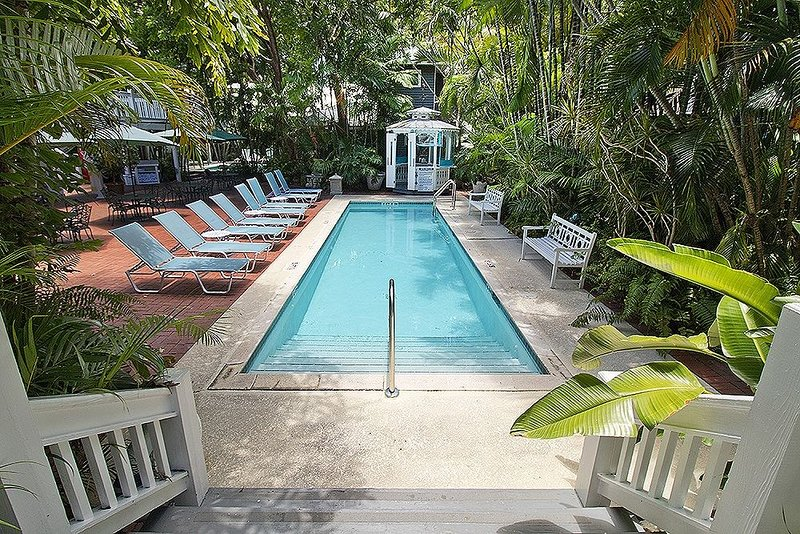 Spend time with family and friends around the pools.