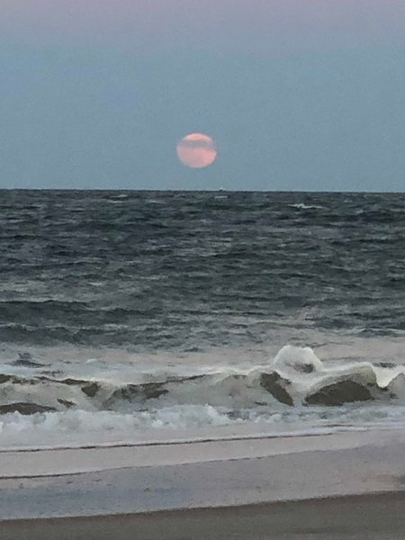 Full Moon over Vilano - When the Moon Hits Your Beach...that's Amore!