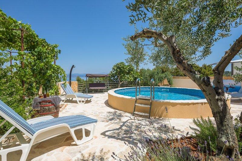 Villa Ante - with pool: H(6) - Rogac, location de vacances à Rogac