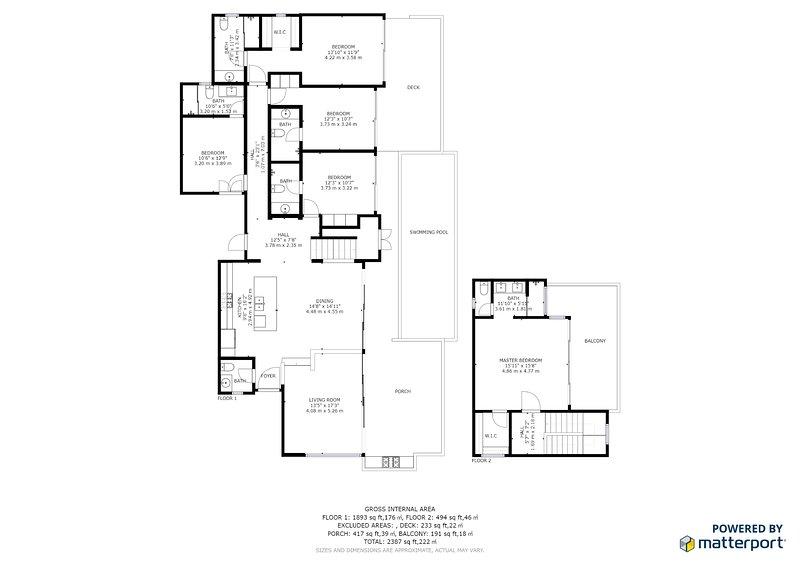 Floor plan of Casa Ventana