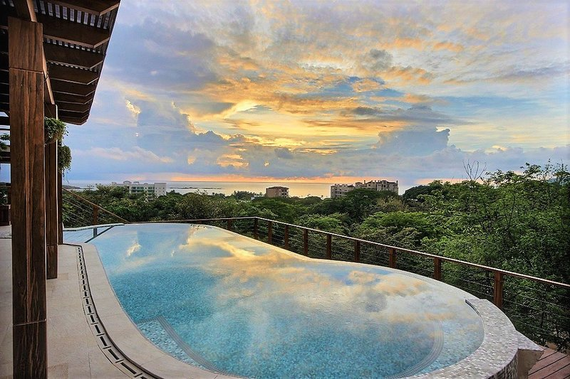 Watch the sun set from Villa Atardecer