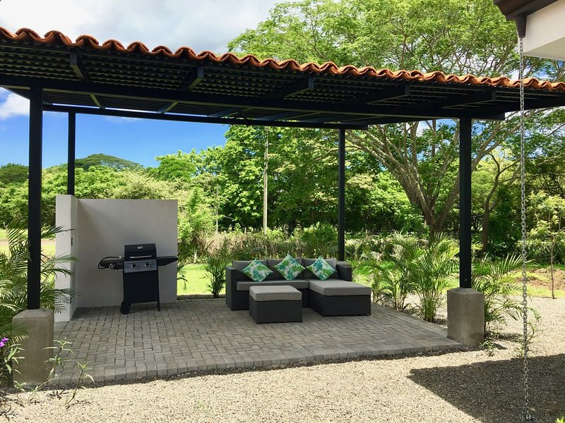 Barbeque palapa and shade loung area by the pool