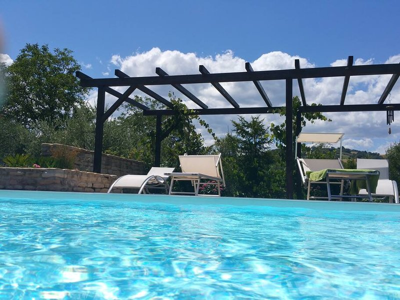 Amazing apartment with shared pool, holiday rental in Montedinove