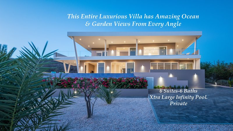 *Villa Casa-Bella* 180• Ocean Views-* Private Pool* for up to 12 Guest, holiday rental in Sint Willibrordus
