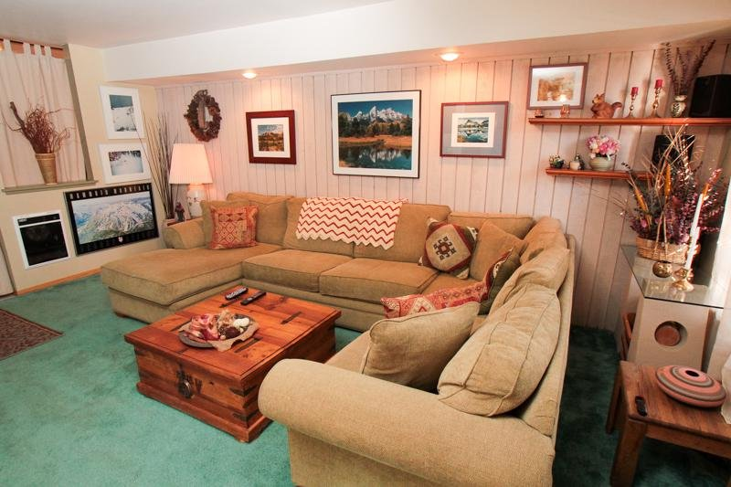 Binnen, kamer, woonkamer, meubels, bank
