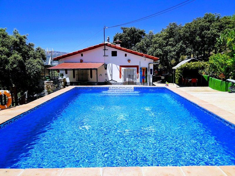 Casa rústica en Ronda con piscina privada. Bonitas vistas de las montañas., holiday rental in Benalauria