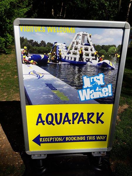 Aquapark en el sitio