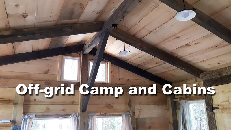 Rare Off-grid Timber Frame Cabin and Camp, vakantiewoning in South River