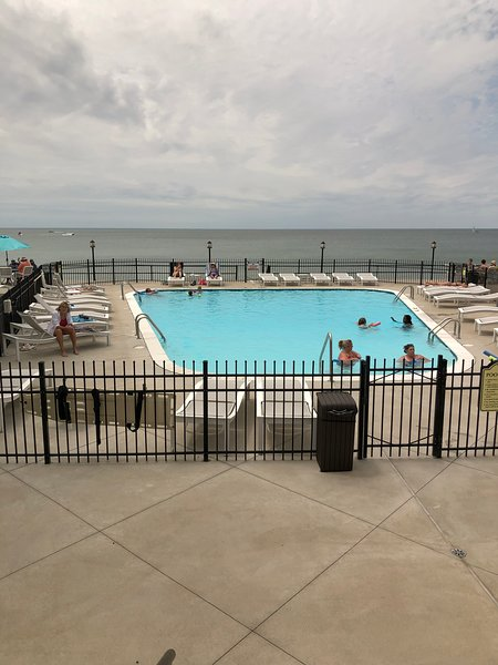 Waterfront pool & beach