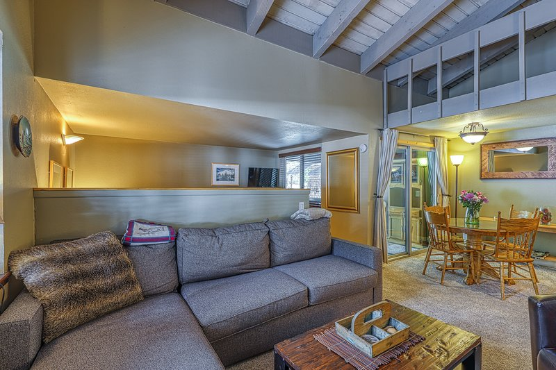Updated mountain studio getaway in private setting - dogs welcome! Chalet in Mammoth Lakes