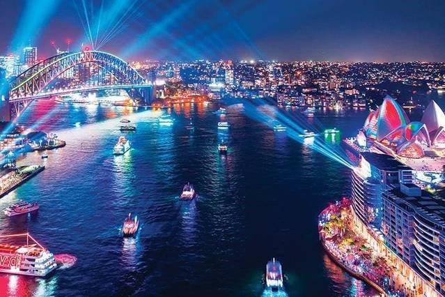 Vivid light show