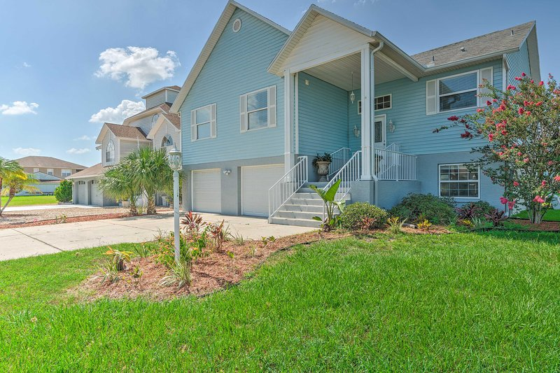 This vacation rental home sits on a canal with direct Gulf of Mexico access!