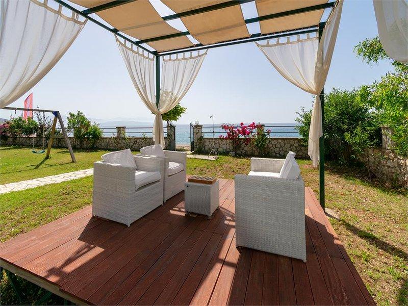 Beachfront Barbati villa 1, holiday rental in Barbati