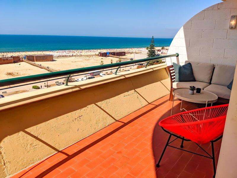 Balcony right across the beach