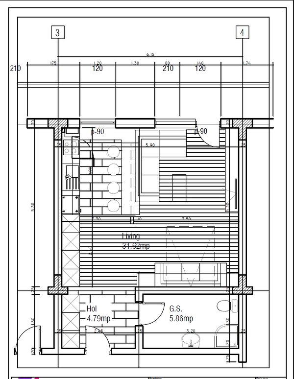 Studio 10 Busteni - planta do imóvel