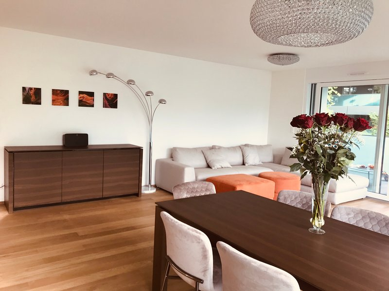 Luxury New Apartment near Geneva airport, city Center and CERN, holiday rental in Ornex