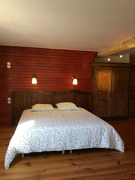 the first bedroom, the king size bed
