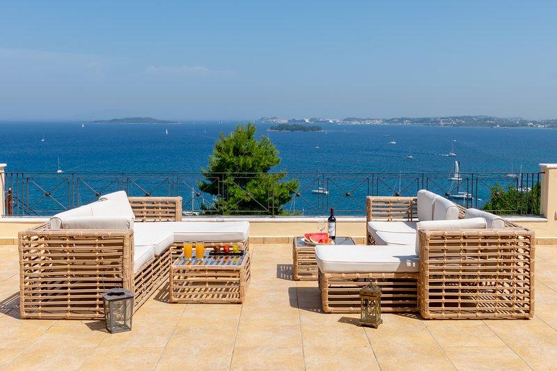 Villa Kommeno Bay 1 , Corfu, holiday rental in Limni