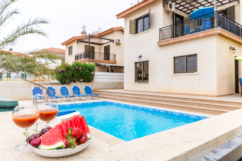SEA VIEW 3 bedroom villa, holiday rental in Frenaros