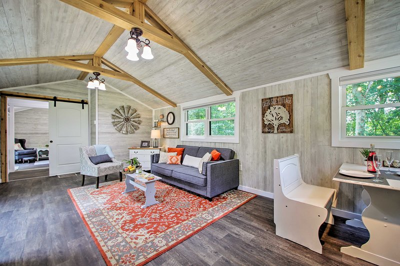 This custom 1-bed, 1-bath cottage is your ideal Michigan getaway!