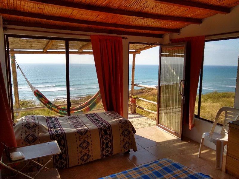 Casa Las Mantas -Suites y cabañas amobladas frente al mar, casa vacanza a Manta