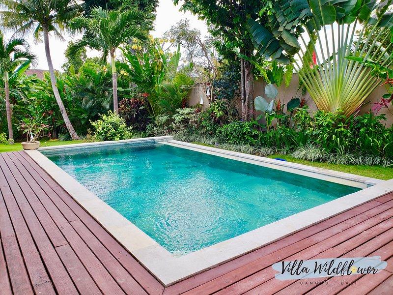 Cubierta de la piscina