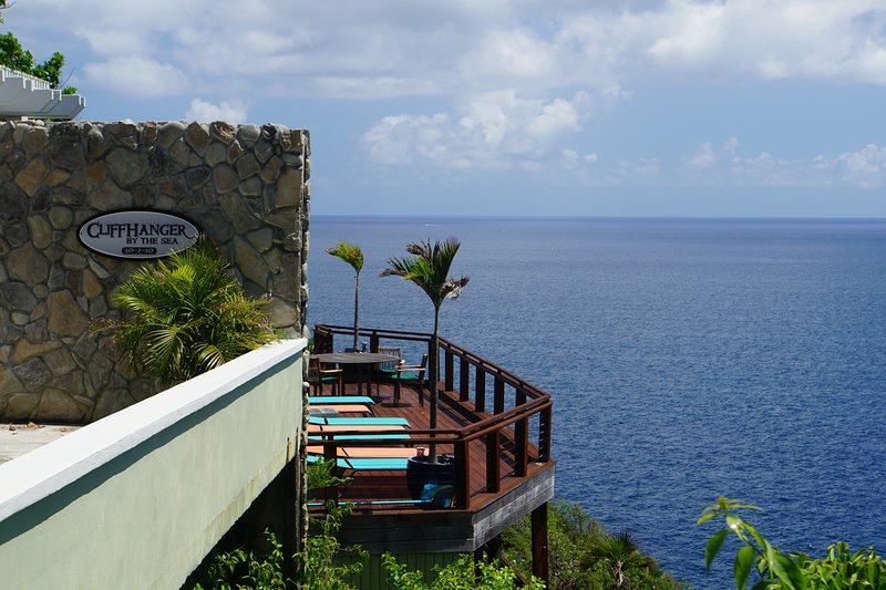 Stunning Oceanfront Villa on nearly 1.5 gated and private acres!, holiday rental in Magens Bay