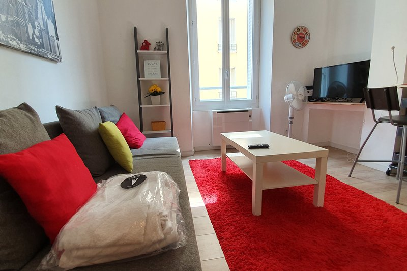 Pleasant renovated studio apartment ❤️ GEM and Tram A/C/E #A2, vacation rental in Grenoble