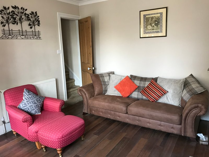 Living Room; comfy sofas - seating for 4 people
