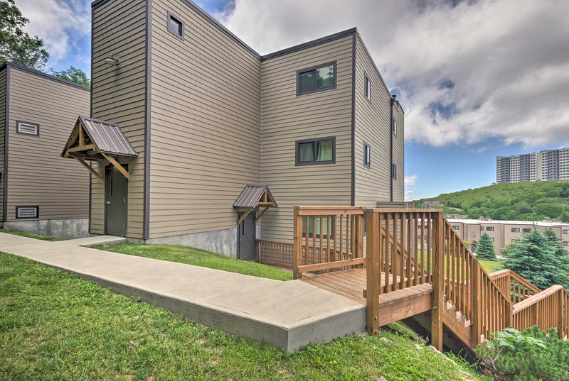 Find this 1-bedroom, 1-bath condo located at the Sugar Ski & Country Club.