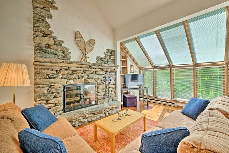 Make this townhouse your ski chalet when you stay in Plymouth, VT!