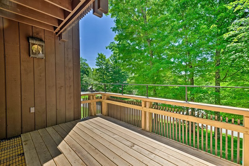 This house boasts beautiful views from the 2 balconies!