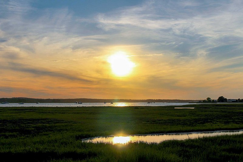 Watch the sun set on the marsh!