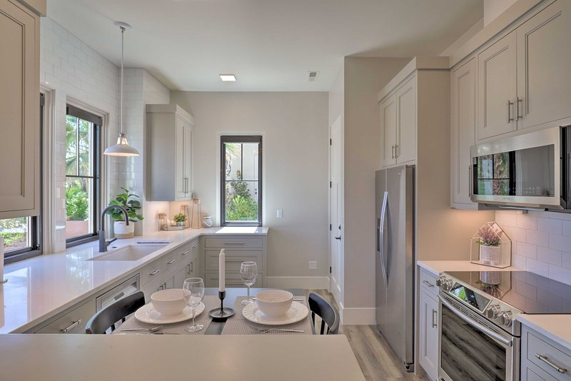 The 1-bed, 1-bath apartment offers all the homey essentials needed for comfort.