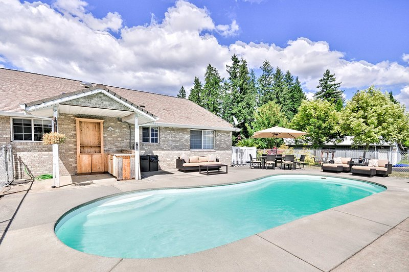 Escape to Oregon's wine region and stay at this Cornelius vacation rental home!