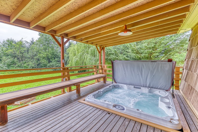 Family friendly home w/ full kitchen, free WiFi, fire pit & creek!, holiday rental in Covington