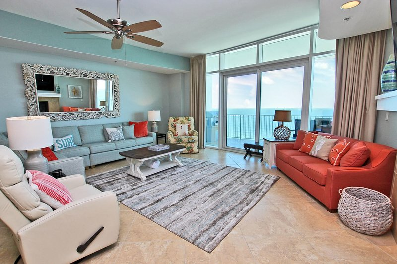 10th Floor Gulf Front Newly Redecorated Luxury Condo!