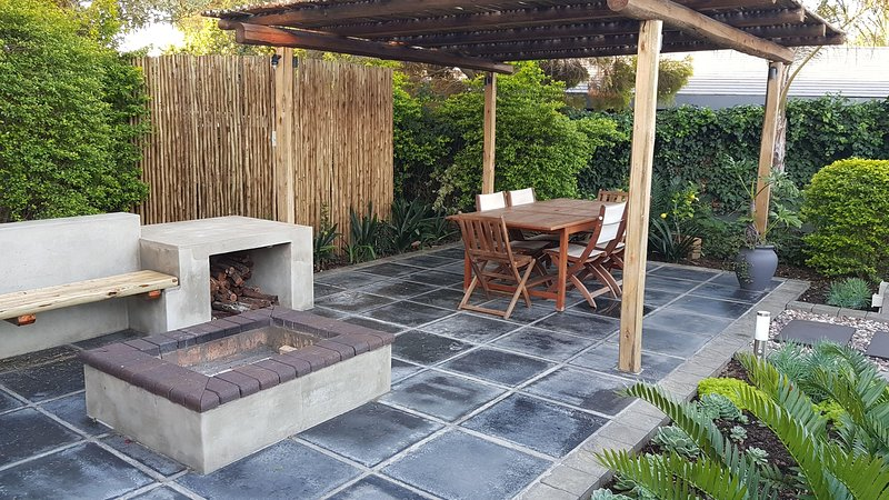 Patio and outside fire pit