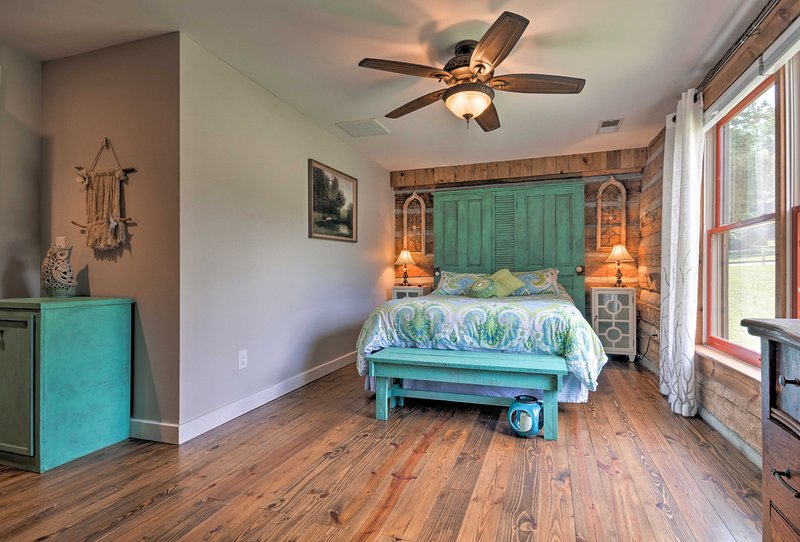 Two guests will be more than comfortable in the spacious master bedroom.