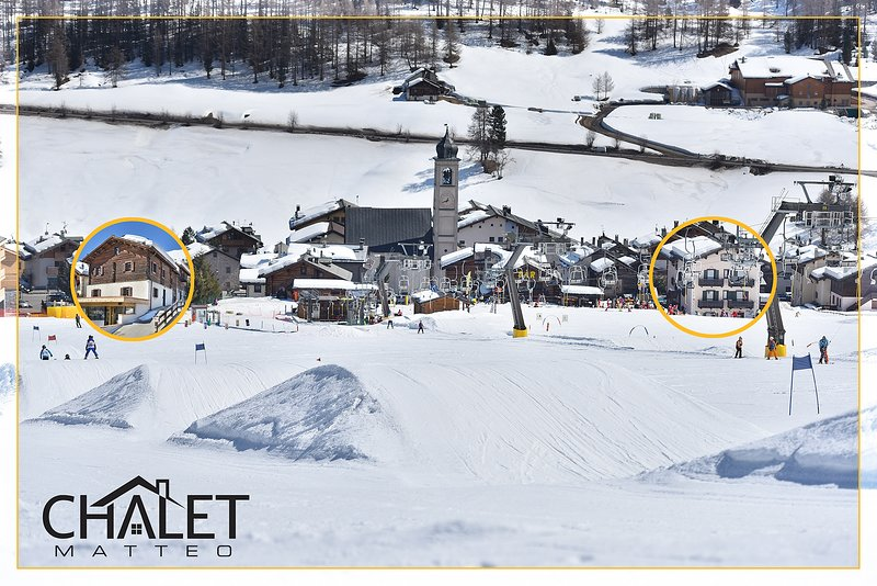 From the ski slopes of San Rocco, Skilift nr 17, connected with the Carosello 3000