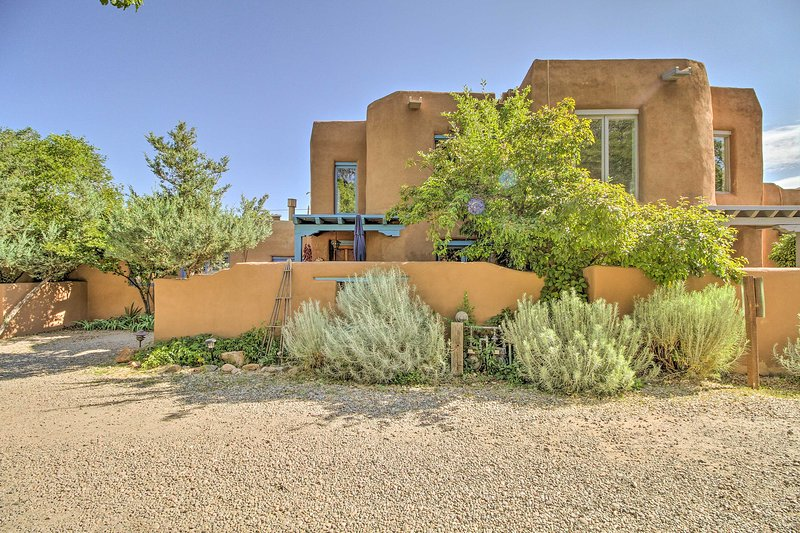 This vacation rental property is located in the heart of Santa Fe.