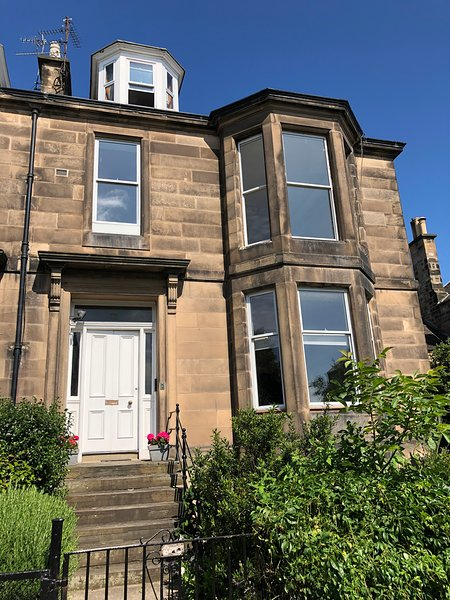 Onze voordeur van een prachtig Victoriaans huis