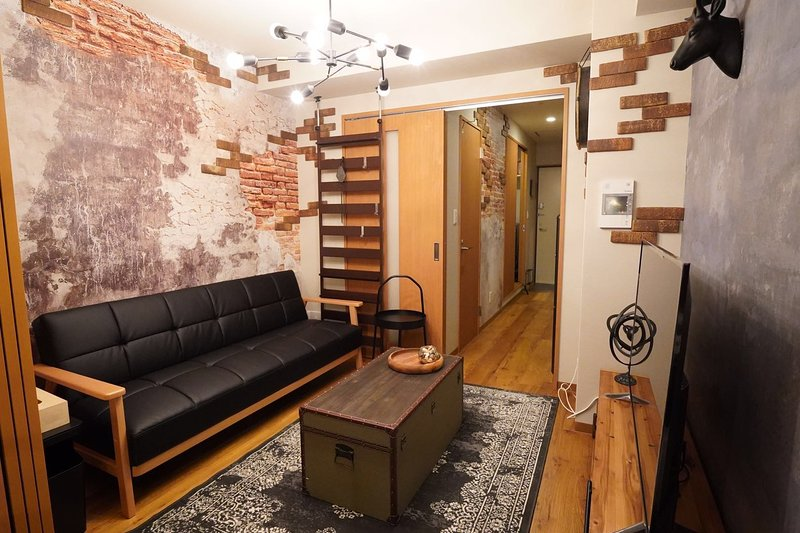TW2 Discovery - Life is a rock! Namba South PENTHOUSE! 1 min walk from Metro, alquiler vacacional en Kobe