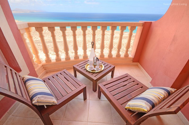 New&Modern Flat with Ocean View&Free Wifi - Sotavento Beach, Costa Calma (12G), holiday rental in Jandia Peninsula