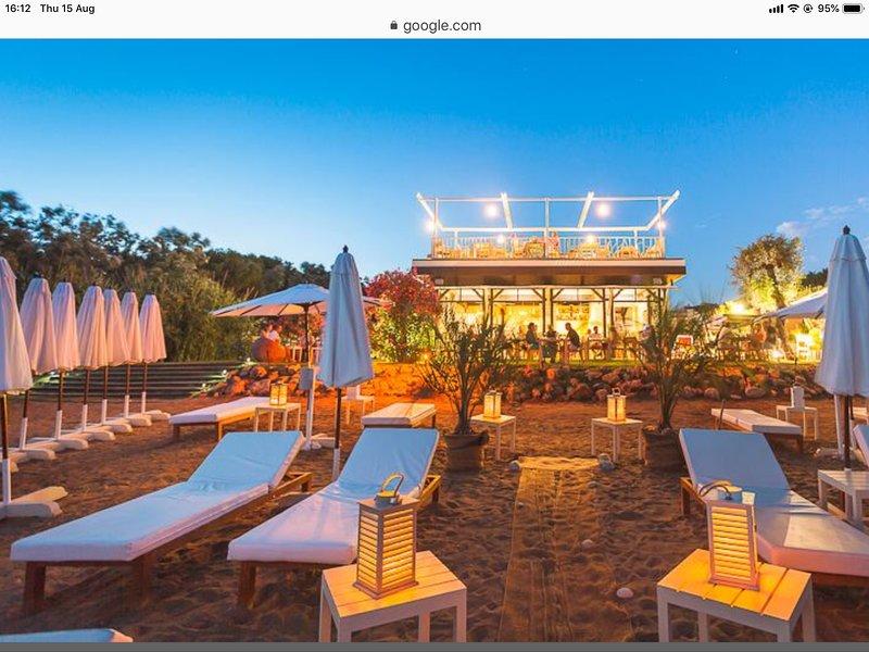 Salduna......fabulous beach club and restaurant 5 mins walk away