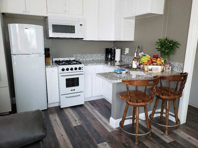 JUNE 2019 COMPLETE REMODEL!!! OCEAN & ISLAND VIEWS from PRIVATE 25FTx12FT DECK, vacation rental in Seal Beach