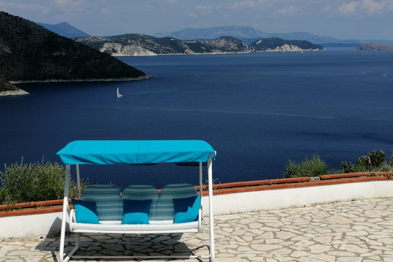 Villa Belle View - Unique Panoramic View of Sivota Bay and Poros Bay, holiday rental in Mikros Gialos