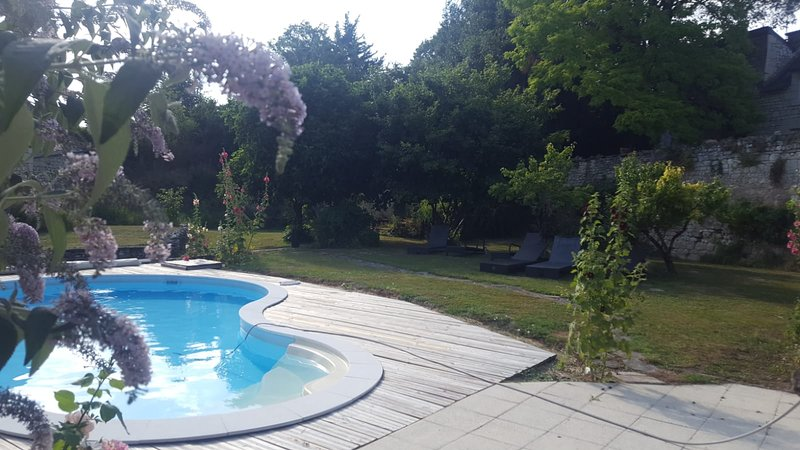 Maison de caractère  avec piscine chauffée, vacation rental in Berrie